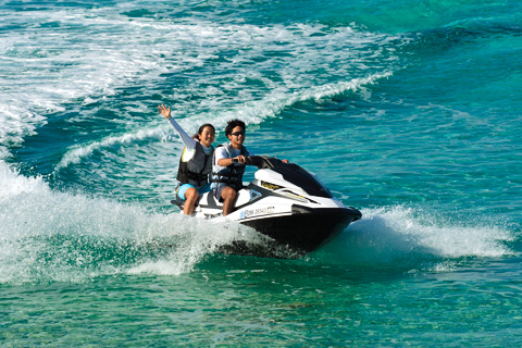 tandem ride on a jet ski