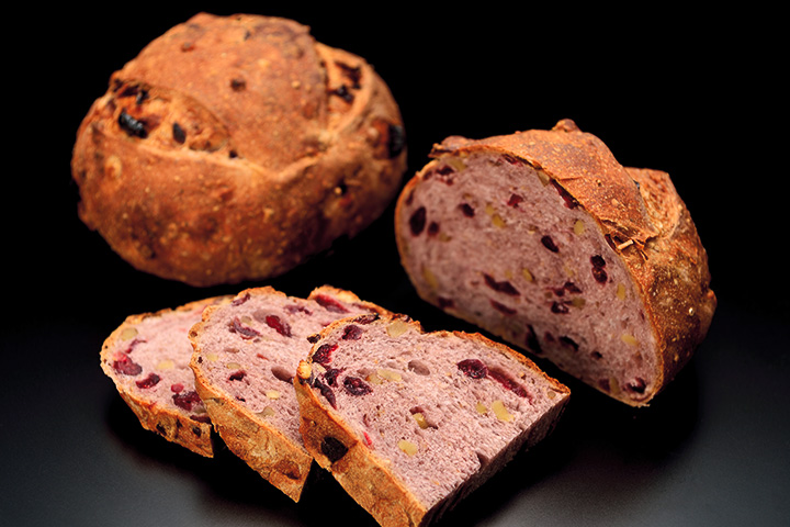 Red wine and cranberry bread